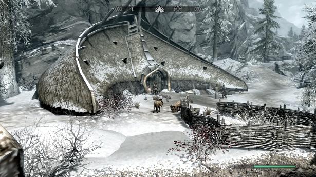 Skyrim wioska orków1